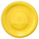 Talíř dezertní keramický 23 cm, malovaný žlutý