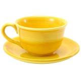 Šálek s podšálkem žlutý 10x7,5cm, 250ml
