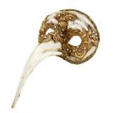 Benátská karnevalová maska-Naso Turco Macrame gold