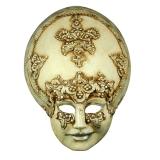 Benátská karnevalová maska-Salome Bianca Macrame