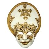 Benátská karnevalová maska-Salome Gold Macrame