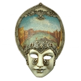 Benátská karnevalová maska-Salome Macrame Venice Canal Grande