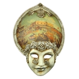 Benátská karnevalová maska-Salome Macrame Venice Bucintoro