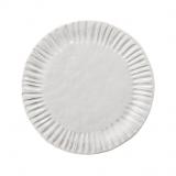 Tác bílý s vroubky, velikost 32 cm