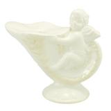 Keramický svícen romance s andělem na noze
