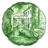 Talíř na zavěšení Benátky, originální ruční malba