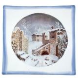 Talíř na zavěšení Dolomity - originální ruční malba