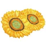 Tác dekor slunečnice. Velikost: 41x22cm.