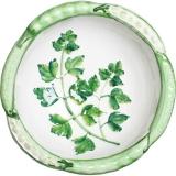 Miska malovaná dekor petržel, hrášek 19cm - zelená