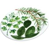 Talíř dezertní dekor bylinky 20cm, zelený