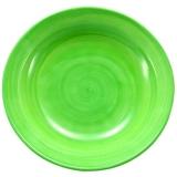 Talíř hluboký 22 cm, malovaný-svěže zelený
