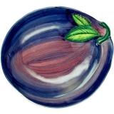 Miska malovaná švestka 21x24 cm, modrá