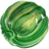 Miska malovaná zelená paprika 15cm, nepravidelná