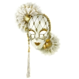 Benátská karnevalová maska-Volto Ventaglio Doppio