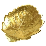 Porcelánová miska list s plátky zlata