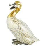 Dekorace kachna velká se zlatem
