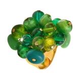 Prsten skleněný ENCANTO zelený-Muráno-Benátské sklo