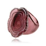 Prsten skleněný JADE fialový-Muráno-Benátské sklo