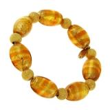 Náramek DALILA zlatohnědý-Murano-Benátské sklo