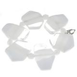 Náramek ICE bílý-Murano-Benátské sklo