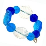 Náramek SWEET modrý-Murano-Benátské sklo