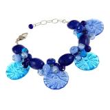 Náramek ENCANTO modrý-Murano-Benátské sklo