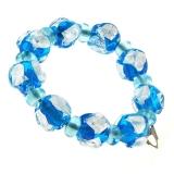 Náramek ELDORADO modrý-Murano-Benátské sklo