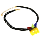 Náhrdelník JOKER žlutý-Murano-Benátské sklo
