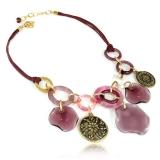 Náhrdelník DELHI fialový-Murano-Benátské sklo