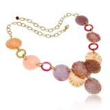 Náhrdelník JOY ružový-Murano-Benátské sklo