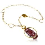 Náhrdelník JADE fialový-Murano-Benátské sklo