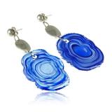 Náušnice JADE modré-Murano-Benátské sklo
