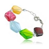 Náramek HYBRIS multibarevný-Muráno-benátské sklo