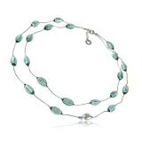 Antica Murrina náhrdelník PANDORA, stříbro - sklo, šedý