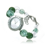 Luxusní náramkové hodinky šedé EDEN s plátky stříbra