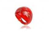 Prsten LAGUNA červená-Muráno-Benátské sklo