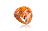 Prsten LAGUNA oranžová-Muráno-Benátské sklo