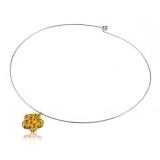 Přívěšek skleněná žlutá kytička-Muráno-Benátské sklo