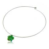 Přívěšek skleněná zelená kytička-Muráno-Benátské sklo