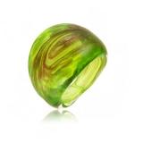 Prsten LAGUNA světlezelený-Murano-Benátské sklo