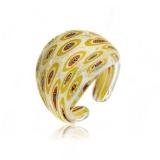 Prsten LAGUNA zlatý-Murano-Benátské sklo