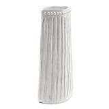 Váza bílá vysoká s vroubky a puntíky, 49 cm