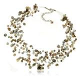 Perlový náhrdelník s kameny-achát, křišťál, perly