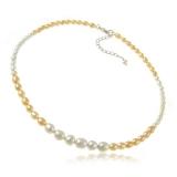 Perlový náhrdelník - říční perly bílé a růžové