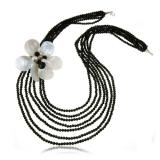 Perlový náhrdelník s kameny-perly, perleť, 60 nebo 81,25 cm