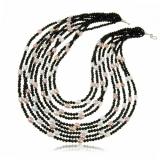 Náhrdelník s kameny-sladkovodní perly bílé a růžové