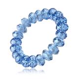 Náramek kamínky-fasetovaný křišťál modrý