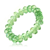 Náramek křišťál zelený, fasetované kamínky