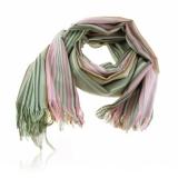 Šála alpaca a hedvábí 180x60 cm zelená, růžová, oranžová