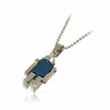 Robotek titanový přívěšek modrý-MI6